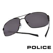 POLICE 義大利警察都會款個性型男眼鏡-金屬框(銀色) POS8879-568P