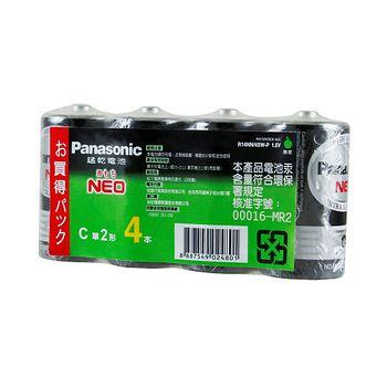 國際牌 碳鋅電池2號 4入/組