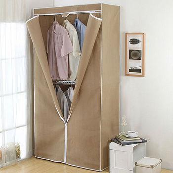 鐵力士鍍鉻雙層多容量衣櫥(101*46*200cm)