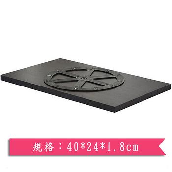 日式旋轉螢幕架-黑(40*24*1.8cm)