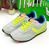 【PONY】女--繽紛韓風復古慢跑鞋 甜蜜糖果盒 SOHO 灰螢綠 42W1SO02GR