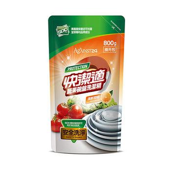 快潔適蔬果碗盤洗潔精補充包- 天然甜橙 800ml