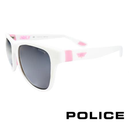 POLICE 義大利警察都會款個性型男眼鏡-膠框(粉紅色) POS1823-04AO
