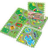 【LOG樂格】環保遊戲巧拼地墊 -動物遊樂園 (60x60cmx4片)