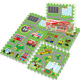 【LOG樂格】環保遊戲巧拼地墊 -動物社區 (60x60cmx4片)