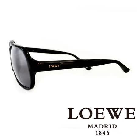 LOEWE 西班牙皇室品牌羅威一槓太陽眼鏡(黑) SLW767-0700