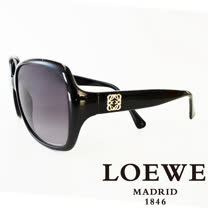 LOEWE 西班牙皇室品牌羅威素面立體LOGO太陽眼鏡(黑) SLW776-0Z42