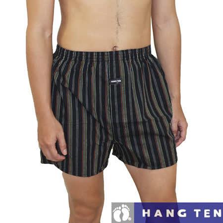 【HANG TEN】天然精梳棉型男五片式平織平口褲~4件組/隨機取色