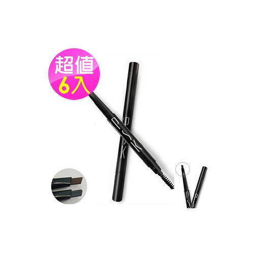 PSK 寶絲汀 彩妝系列 免削式三角刀型眉筆 6入組(灰黑/咖啡)