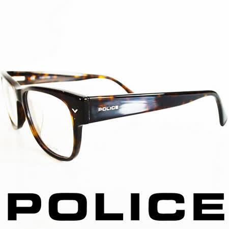 POLICE 義大利警察都會款個性型男眼鏡-膠框(豹紋) POV1765-0722