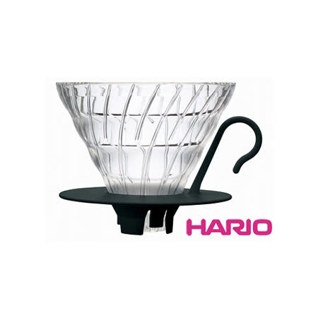HARIO V60黑色02好握玻璃濾杯1~4杯 VDGN-02B