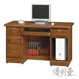 【優利亞-藝瑄】4.2尺電腦桌(2色)