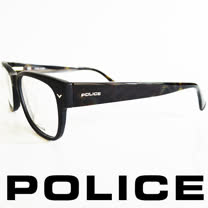 POLICE 義大利警察都會款個性型男眼鏡-膠框(黑綠) POV1765-703X