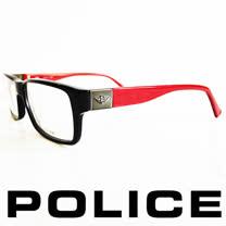 POLICE 義大利警察都會款個性型男眼鏡-膠框(深紅) POV1772-700R