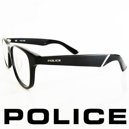 POLICE 義大利警察都會款個性型男眼鏡-膠框(黑) POV1792-0700