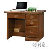 【優利亞-皇家樟木色】3.5尺辦公桌兼書桌