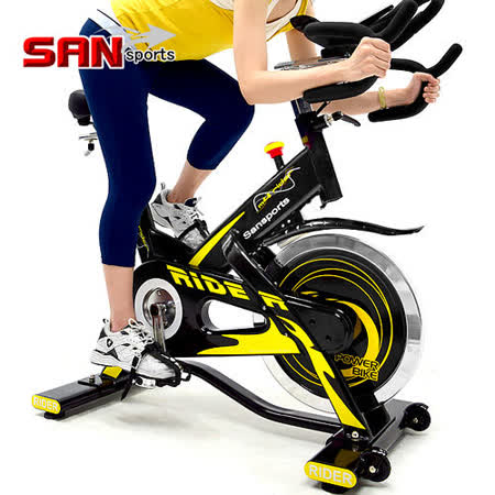 【SAN SPORTS 山司伯特】M4雙頭龍20KG飛輪健身車