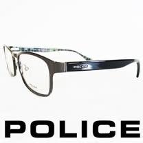 POLICE 義大利警察都會款城市系列眼鏡-金屬框(銀框亮綠) POV8857-0568