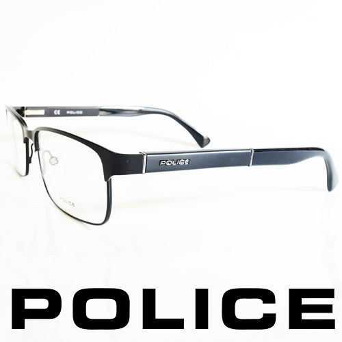 POLICE 義大利警察都會款 型男眼鏡~金屬框^(霧黑框^) POV8797~531X