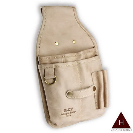 【H-CT】軟皮白設計款真皮工作腰包(A304-Z)