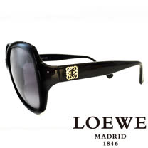 LOEWE 西班牙皇室品牌羅威素面立體LOGO太陽眼鏡(黑) SLW775-0Z42
