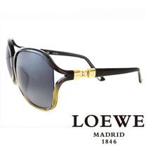 LOEWE 西班牙皇室品牌羅威兩環扣太陽眼鏡(墨綠) SLW785-06VG