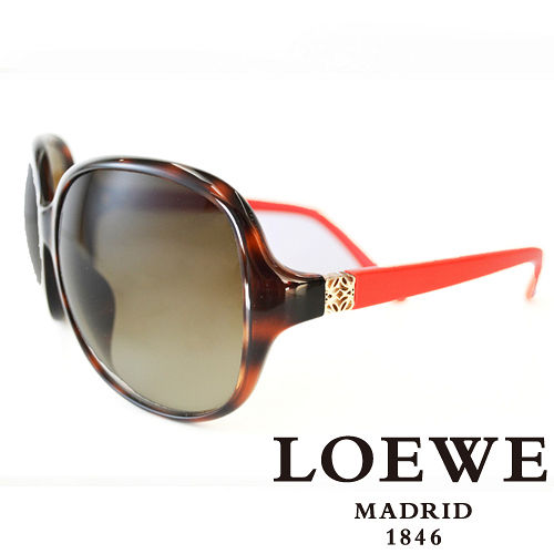 LOEWE 西班牙皇室品牌羅威皇家 LOGO太陽眼鏡^(紅^) SLW787~0AH9