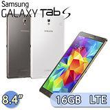 SAMSUNG Galaxy Tab S 16GB LTE版 (T705) 8.4吋 旗艦平板電腦(白/咖啡金)【送藍芽喇叭+多彩收線器+筆型電容觸控筆+液晶螢幕清潔液+拭布+刷筆(組)】
