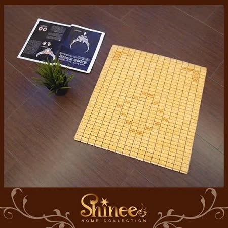 SHINEE 《天然涼爽型-極小粒孟宗竹精品麻將坐墊》-單人座50X50(牛筋繩)