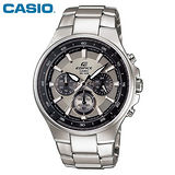 CASIO EDIFICE碳纖魅力品味三眼賽車錶(灰)EF-562D-7A