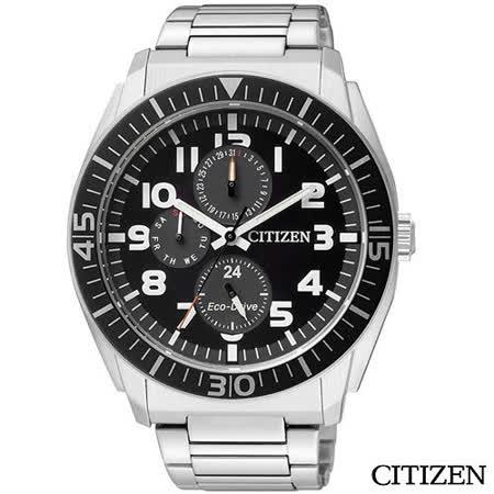 【CITIZEN 星辰】Eco-Drive 光動能暗黑騎士時尚腕錶(黑-AP4010-54E)