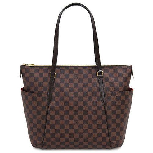 Louis Vuitton LV N41281 TOTALLY MM 棋盤格紋肩背包 中~