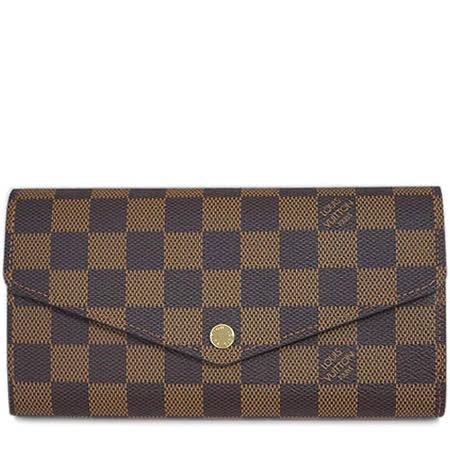 【網購】gohappyLouis Vuitton LV N63209 新版熱銷款棋盤格紋扣式長夾.預購效果如何台中 愛 買 量販 店