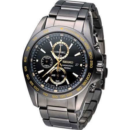 SEIKO 精工 Criteria 空戰英豪計時時尚腕錶 7T92-0RK0K SNDF79P1