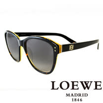 LOEWE 西班牙皇室品牌羅威大理石面奢華花片太陽眼鏡(黑) SLW805-0U64
