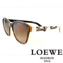 LOEWE 西班牙皇室品牌羅威大理石面奢華花片太陽眼鏡(黃) SLW805-0961