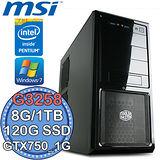 微星Z97平台【飆速超頻】Intel Pentium K 20週年紀念版(G3258)雙核 GTX750獨顯 Win7 SSD 120G+1TB燒錄電腦
