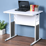 《Homelike》巧思辦公桌 亮白系列-白色加厚桌面80cm