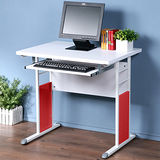 《Homelike》巧思辦公桌 亮白系列-白色加厚桌面80cm(附鍵盤架)
