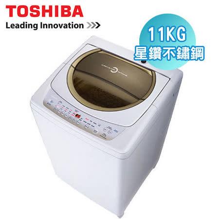 TOSHIBA東芝 11公斤星鑽不鏽鋼單槽洗衣機AW-B1291G(WD)含安裝+送毛寶冷洗精