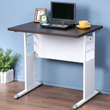 《Homelike》巧思辦公桌 亮白系列-胡桃加厚桌面80cm