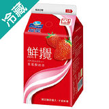 福樂鮮攪草莓奶茶400ml/瓶