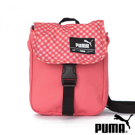 PUMA Foundation多彩插釦式小側背包(甜心粉)06911912