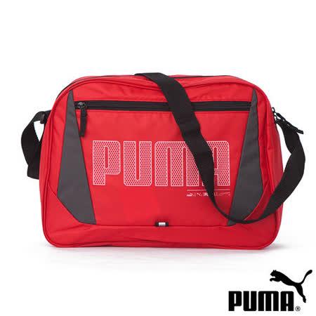 PUMA Deck大側背包(活力紅)06916802