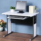 《Homelike》巧思辦公桌 炫灰系列-白色加厚桌面100cm(附鍵盤架)