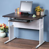 《Homelike》巧思辦公桌 亮白系列-胡桃加厚桌面100cm(附鍵盤架)