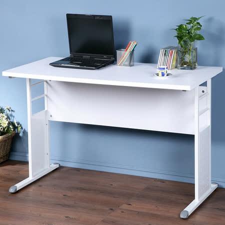 《Homelike》巧思辦公桌 亮白系列-白色加厚桌面120cm