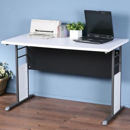 《Homelike》巧思辦公桌 炫灰系列-白色加厚桌面120cm