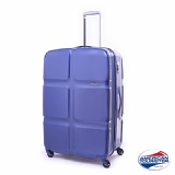 American Tourister 24吋 CUBE POP繽紛硬糖四輪行李箱(藍色啤酒海)