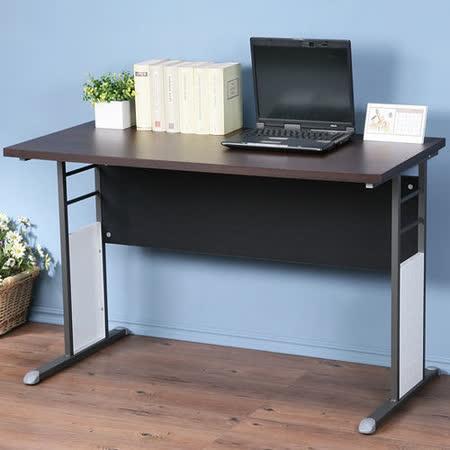 《Homelike》巧思辦公桌 炫灰系列-胡桃加厚桌面120cm